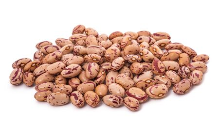 Cranberry beans pile isolated on white background