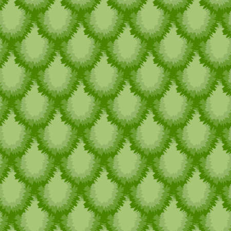 Seamless scale pattern of spiny hedgehog kiwi. Abstract pattern in green colors Illusztráció