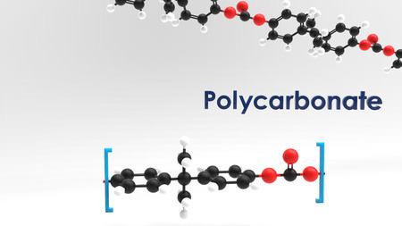 Polycarbonate monomer & polymer 3D image Reklamní fotografie