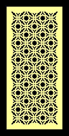 islamic pattern: wood door 3