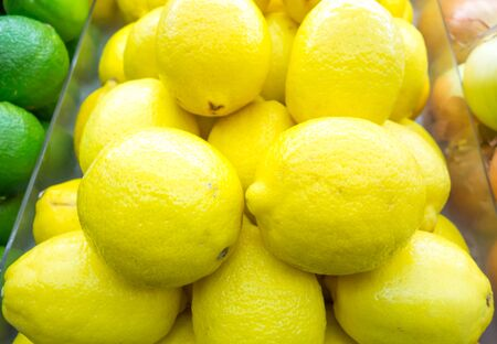 shelf: Lemon on shelf Stock Photo
