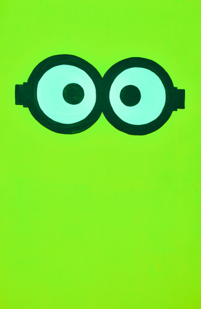 chartreuse: Green color background with both eyes