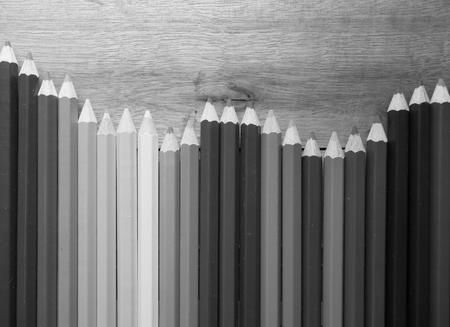 coloured pencil: coloured pencil on the wood floor