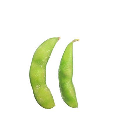 edamame: Edamame isolated Japanese soybean Stock Photo
