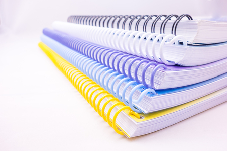 colorful ring of notebook stacked