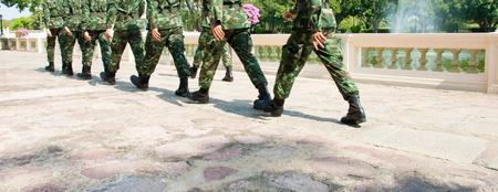 solider: The solider walking patrol