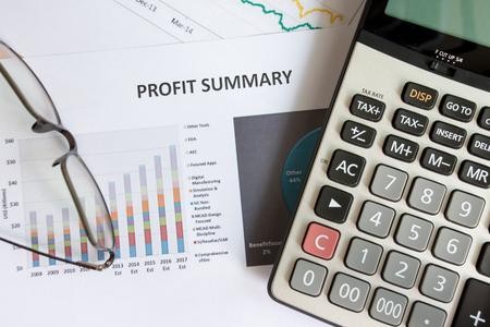 Top view Profit summary concept Stockfoto