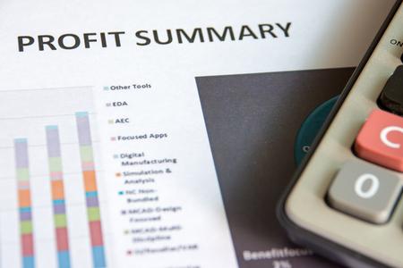 summary: Financial accounting of profit summary graphs analysis