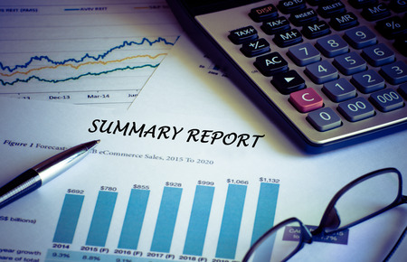 cuadro sinoptico: Financial accounting summary report graphs analysis