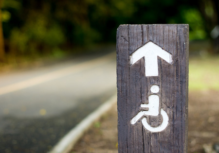 The handicapped road in the public park Stock Photo