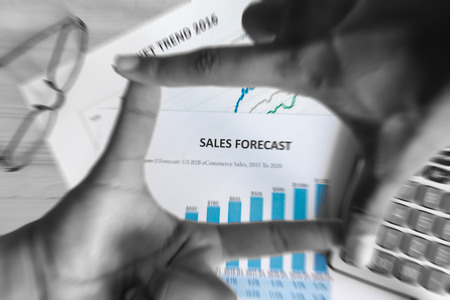 Financial accounting sales forecast graphs analysis,digital effect for background 版權商用圖片 - 65305076