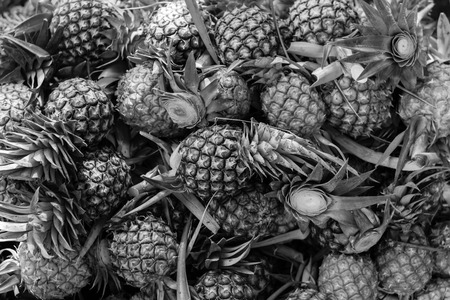 Black and white of fresh pineapple as pettern