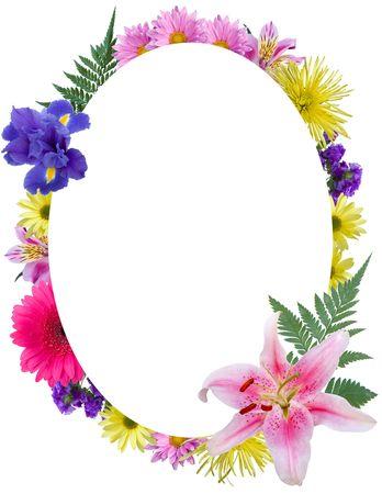 Oval floral frame