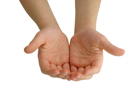 Childs hands photo