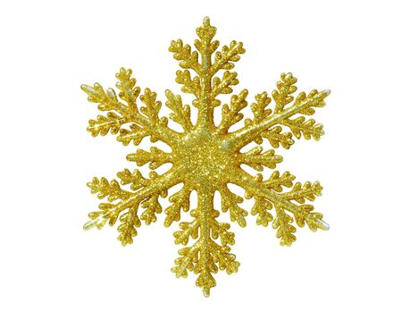Gold snow flake Christmas tree topper. photo