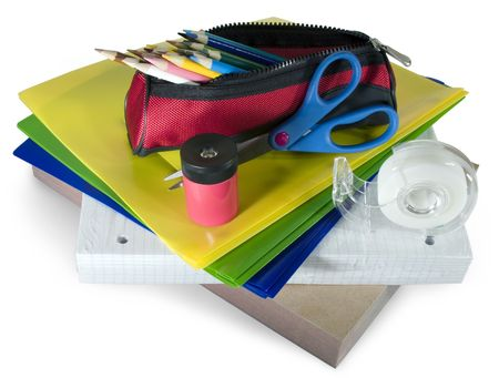 Back to School : various school supplies. Stok Fotoğraf