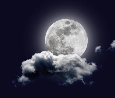 Full Moon (montage - Lune prise à la prime focus d'un télescope C5) Banque d'images - 4069470
