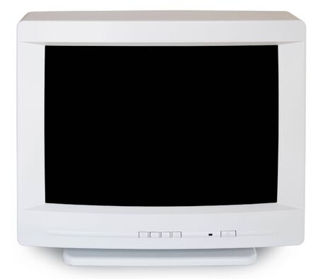 Old computer Monitor, isolated on white background.