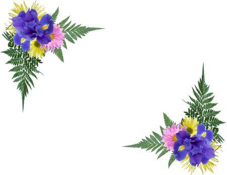foto: De hoeken van de foto van de bloemen.