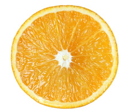 Half orange, isolated.