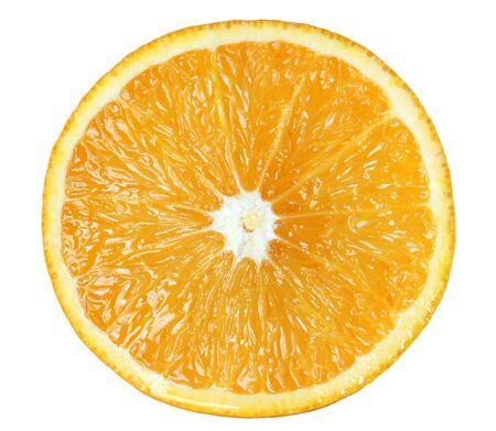Half orange, isolated. Stock Photo - 4252002