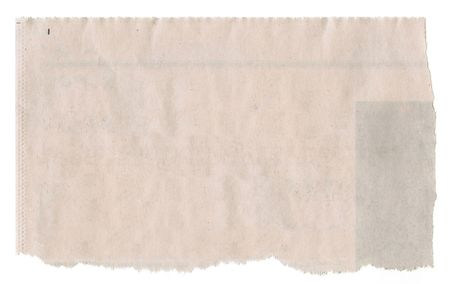 Newspaper isolated on white background.