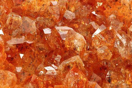 gemology: Macro di un geode di quarzo citrino. Archivio Fotografico