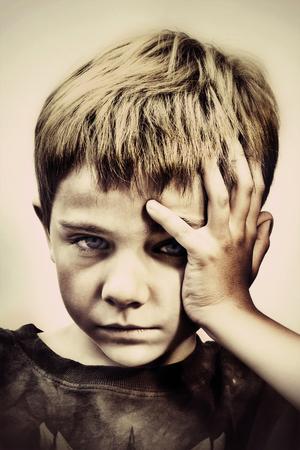 sulking: Sulking or bored child