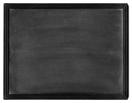 Small dusty black Slate isolated on white background Фото со стока