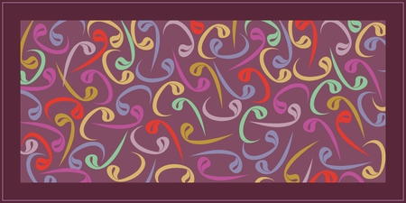 Colorful Wavs. From the Arabic alphabet, wav refers to the servant and the prostration. Can be used as a wall paper, poster, banner, tableau, gift card or background.