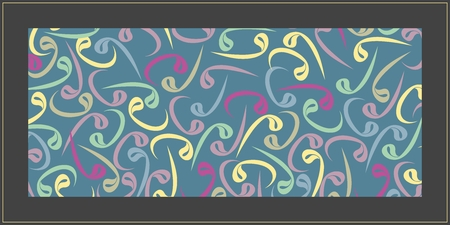 Colorful Wavs. From the Arabic alphabet, wav refers to the servant and the prostration. Can be used as a wall paper, poster, banner, tableau, gift card or background. Stok Fotoğraf - 122614592