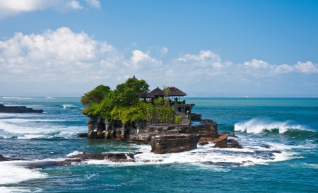 Tanah Lot Temple, Bali, Indonesia Stockfoto