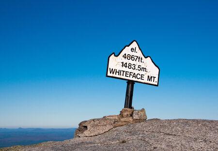 appalachian trail: Whiteface Mountain Top