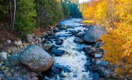 appalachian mountains: River near Lake Placid, NY