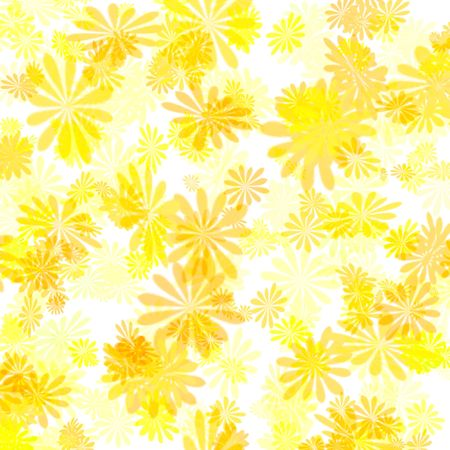 colorful abstract yellow floral pattern girt wrap  Stock Photo