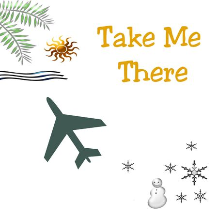 take me there tropical vacation poster or postcard
