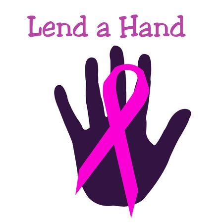 핑크 리본 추상 유방암 기호 포스터 클립 아트