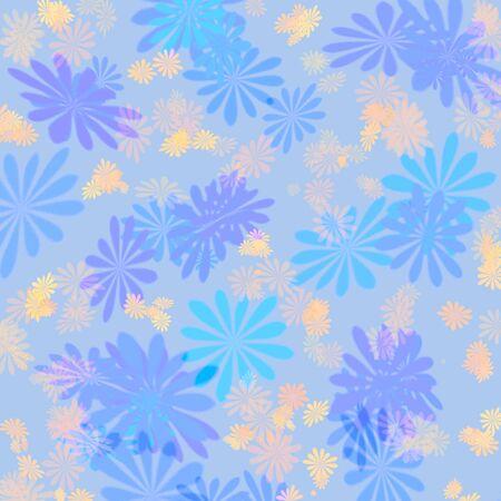 abstract pastel blue flower pattern scrapbook background