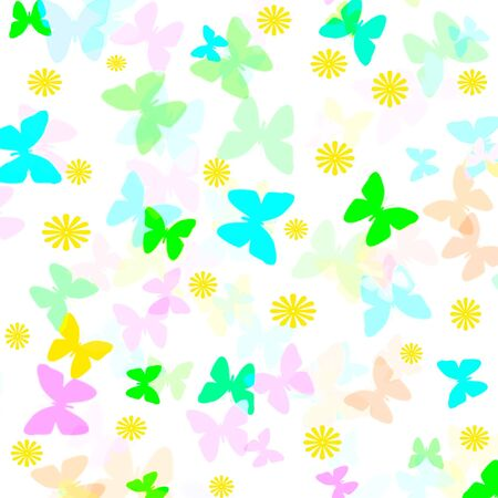 colorful abstract  butterflies scattered  pattern gift wrap