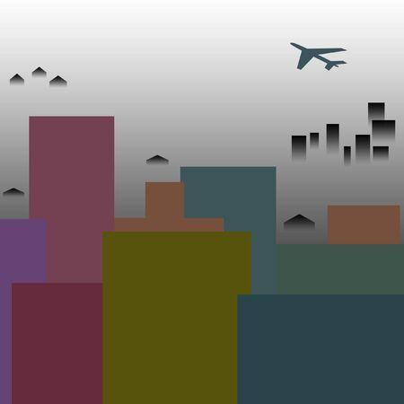 replenish: air pollution over a treeless city skyline