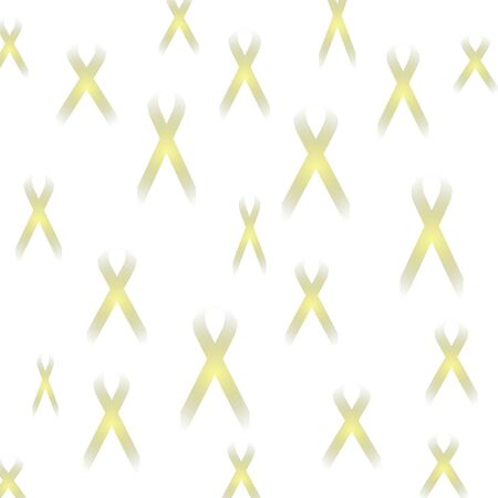 faint yellow ribbon abstract remembering fallen soldiers Stock Photo