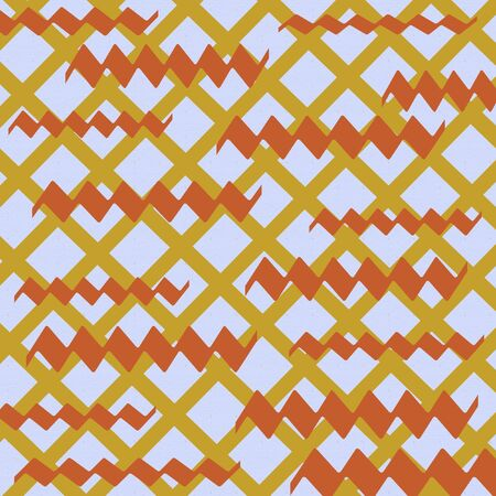 grid pattern golden autumn colors on background Stock Photo