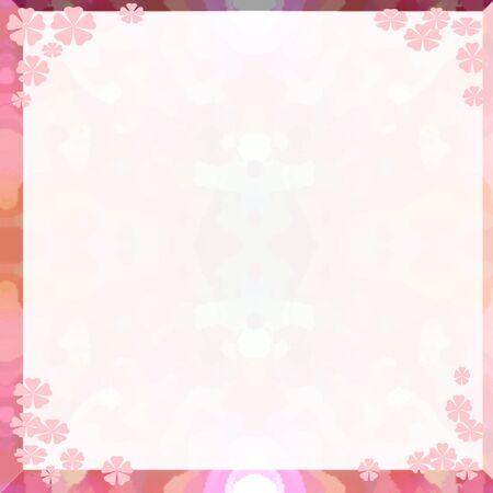 abstract flowers  border on faint background
