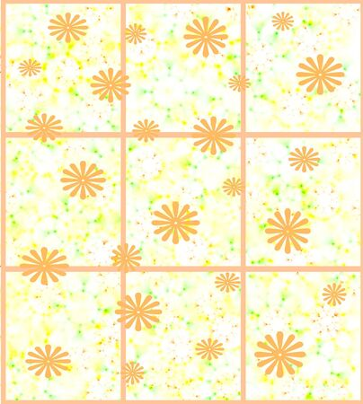 scrapbook page flowers scattered on mottled background