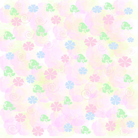 pink and blue flowers scattered on  rose background Stock Photo - 882545