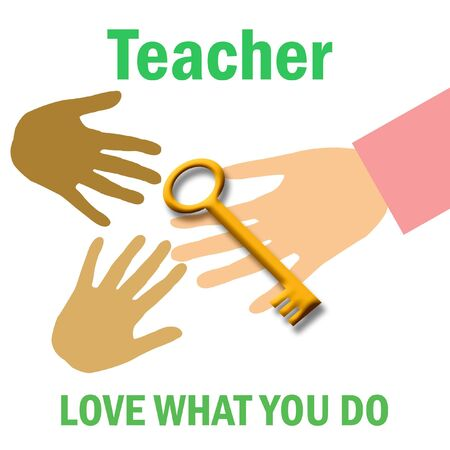 do what you love poster  be a teacher Stock Photo