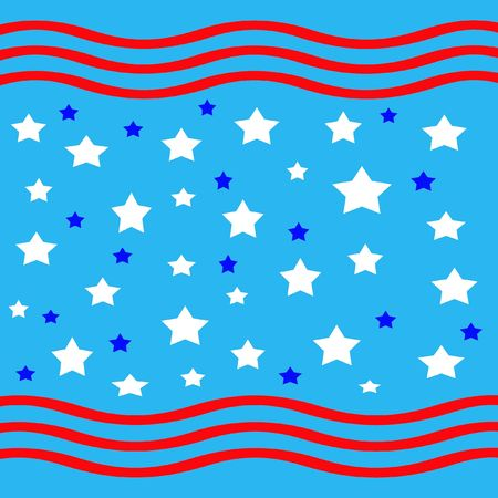 stars and stripes scattered on blue background  photo