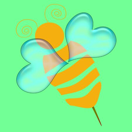 Résumé et l'or noir sur fond Bumble Bee Banque d'images - 973986