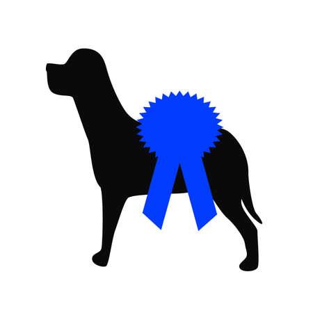 award blue ribbon for best of dog  show Фото со стока