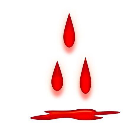 Gocce di sangue di cui il fondo con pozzanghera Archivio Fotografico - 1006545